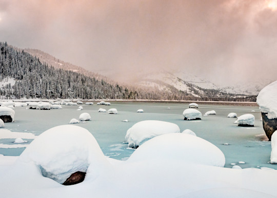 Winter Storm, Donner Lake Art   The Carmel Gallery