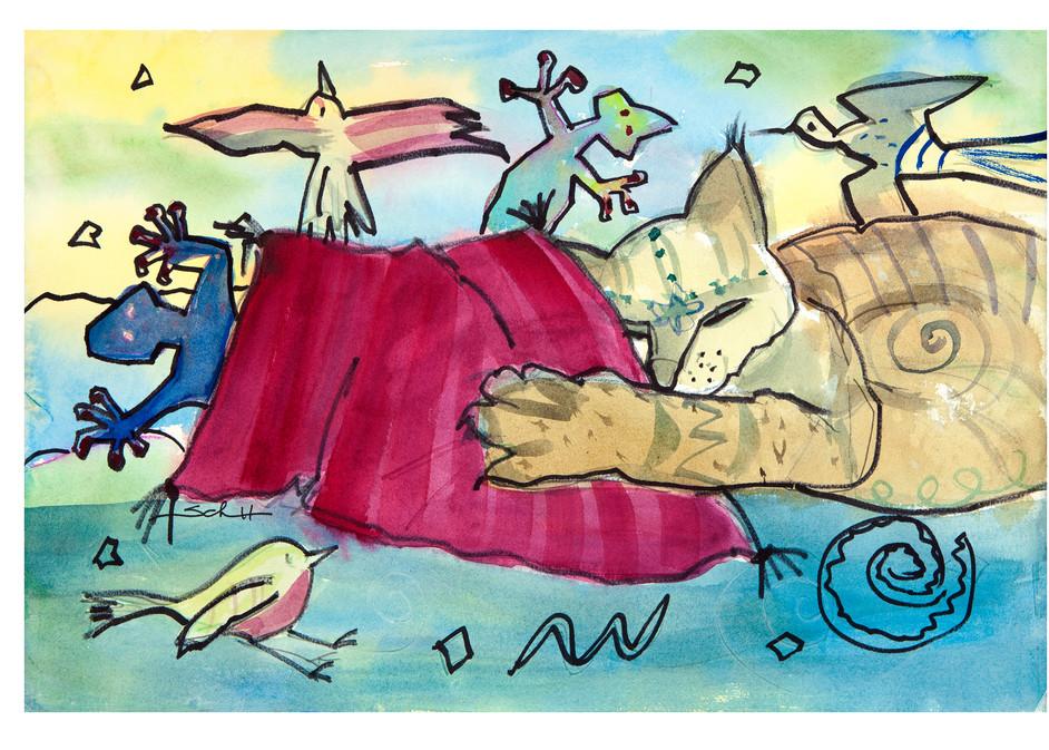 Do Cats Dream In Color? Art   Elaine Schaefer Hudson Art