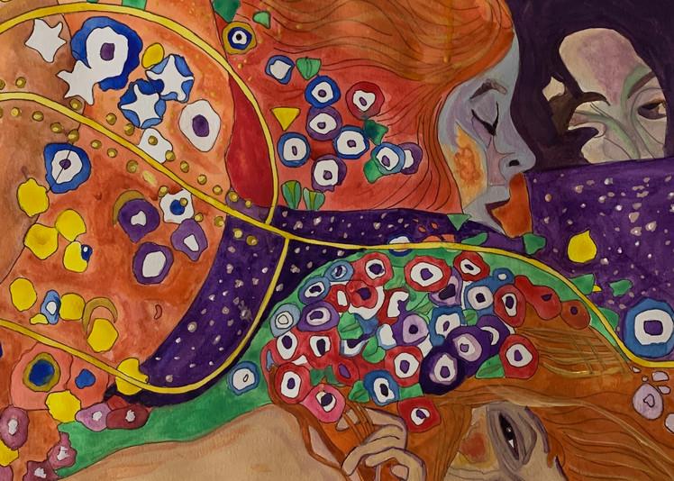Homage To Klimt   Water Serpents Art   Scott Dyer Fine Art
