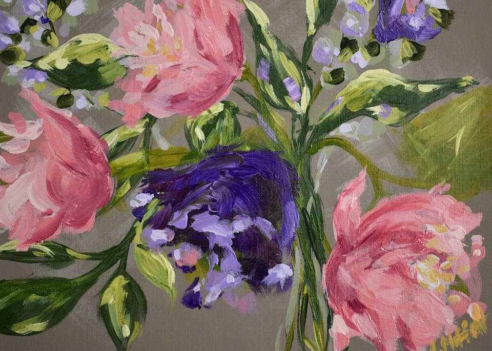 Giclee Art print- Summer Peonies I- by April Moffatt