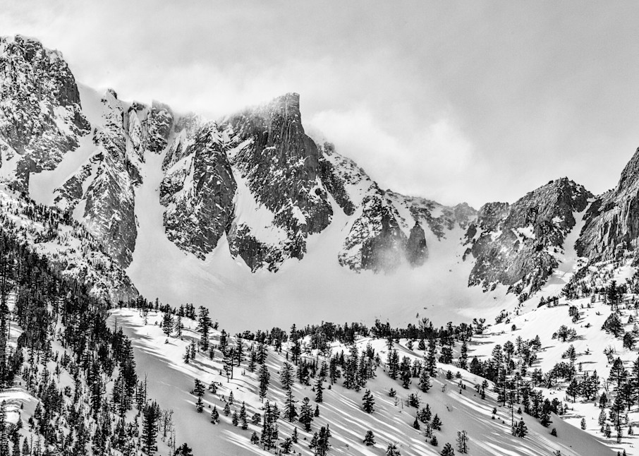 Eastern Sierra Nevada Peak And Snow Bowl Photography Art | Leiken Photography