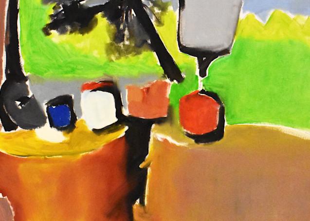 campsite painting