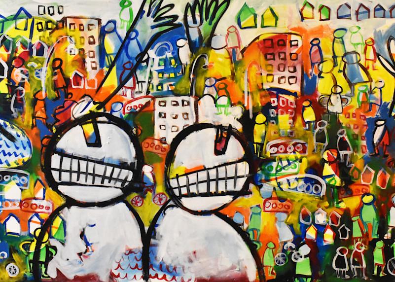 Colorful fun painting by Eddie