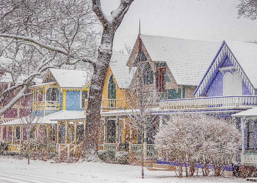Gingerbread Snow Blizzard Art   Michael Blanchard Inspirational Photography - Crossroads Gallery
