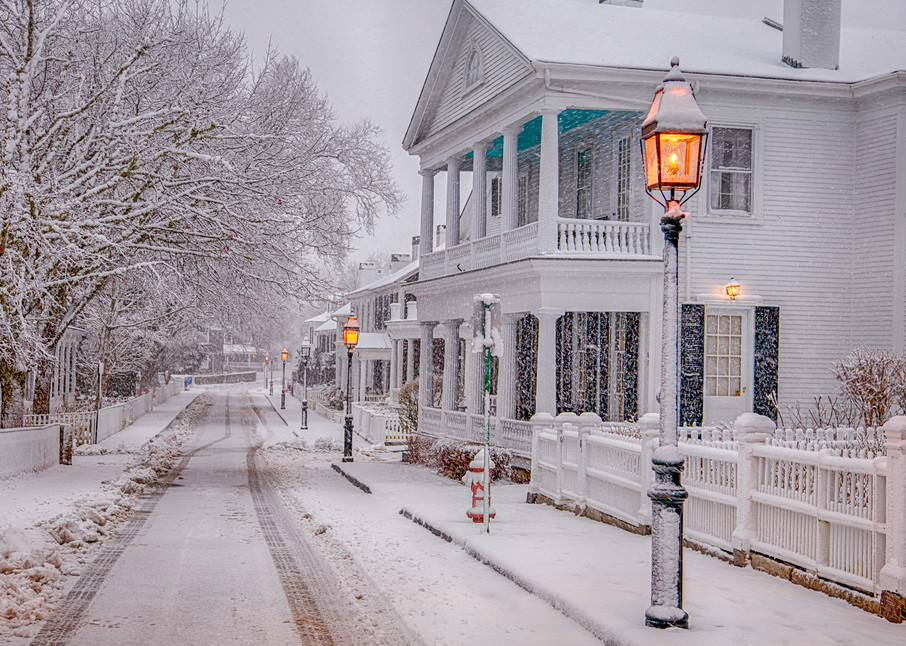 North Water Street Snow Art   Michael Blanchard Inspirational Photography - Crossroads Gallery