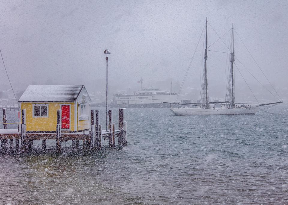 Tisbury Wharf Winter Squall Art | Michael Blanchard Inspirational Photography - Crossroads Gallery