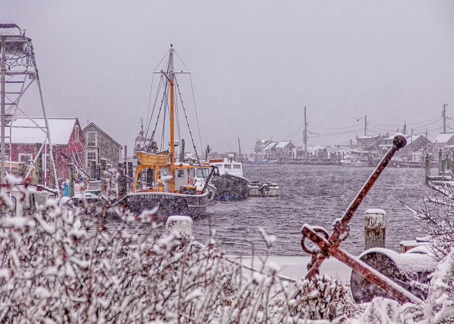 Menemsha Harbor Snow Art | Michael Blanchard Inspirational Photography - Crossroads Gallery
