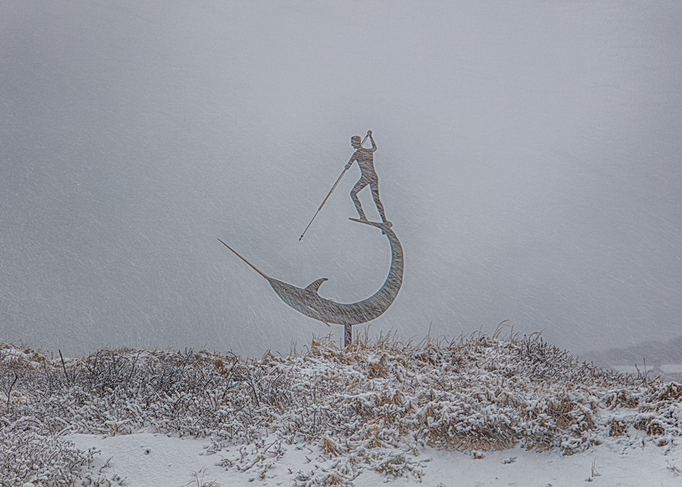 Sword Fisherman Snow Art | Michael Blanchard Inspirational Photography - Crossroads Gallery