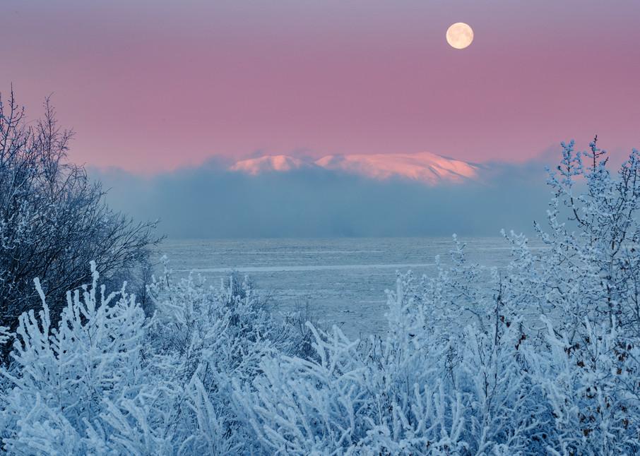 Sleeping Lady Hoarfrost Moonset