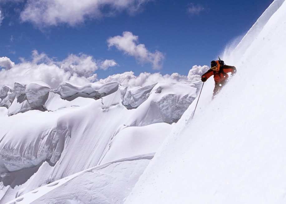 Corillera Blanca, Toqllaraju, Peru, Bissell Hazen Skiing