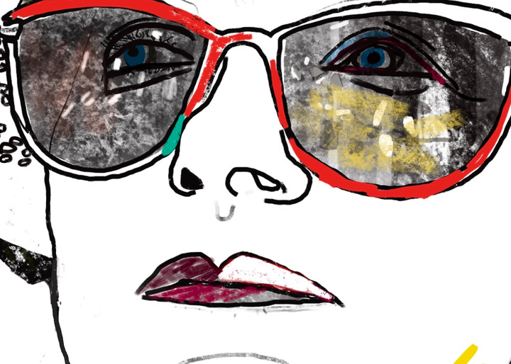 Cerris Glasses Drawing Face Woman