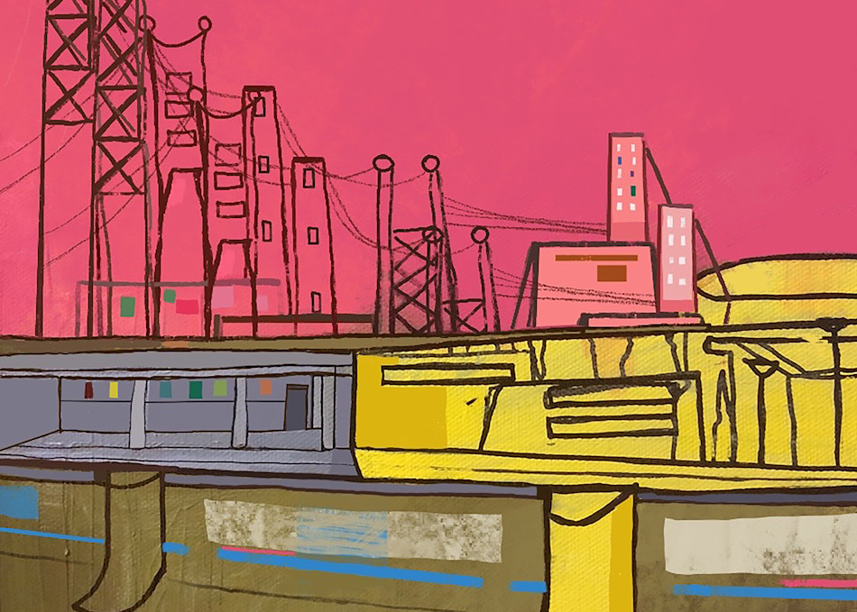 Riverside Depot Pink Yellow Electric Power