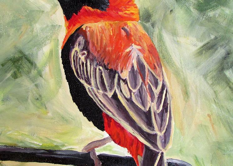 The Bishop Wears Red Art | Linda Sacketti