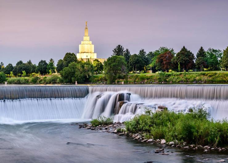 Idaho Falls Idaho Temple - The Falls