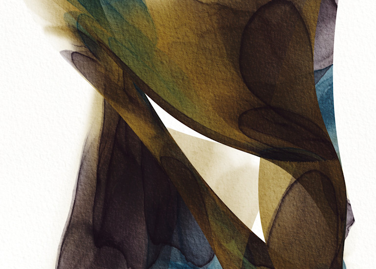 Number 1 Between Ink Abstract Teal Brown Art | onlythemoon