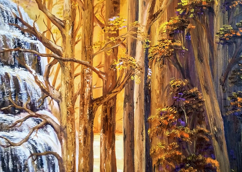 Cascadas Del Tolima Art   artecolombianobyberenice