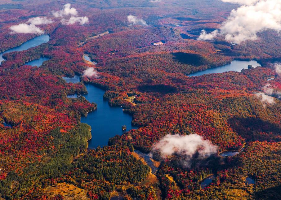 Bear Pond Fall Aerial 3 Photography Art | Kurt Gardner Photogarphy Gallery