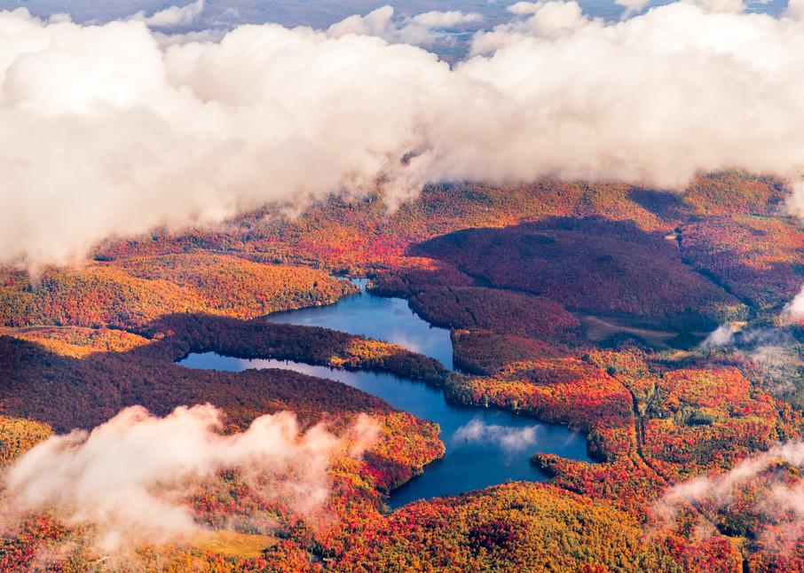 Eagle Crag Mt Arab Lake Fall Aerial Photography Art   Kurt Gardner Photogarphy Gallery