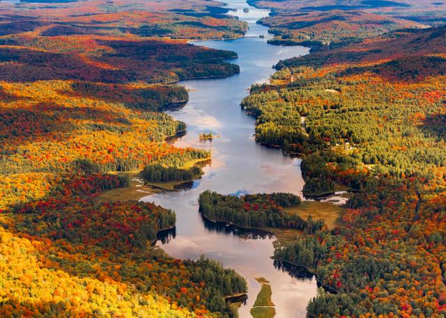 Long Lake Fall Aerial Vert Photography Art   Kurt Gardner Photogarphy Gallery