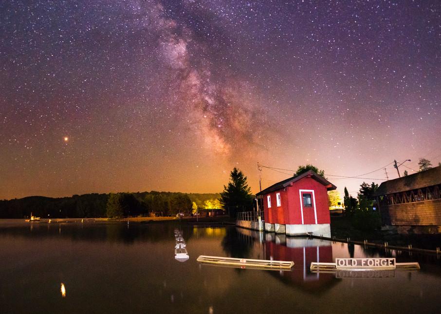Old Forge Pond Damm Milky Way Photography Art   Kurt Gardner Photogarphy Gallery