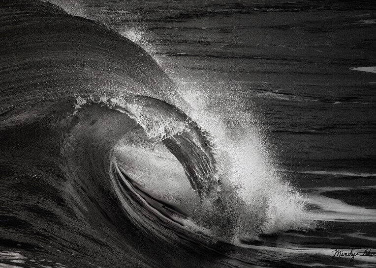 Wave In Black And White Photography Art | Mindy Fine Art Photography