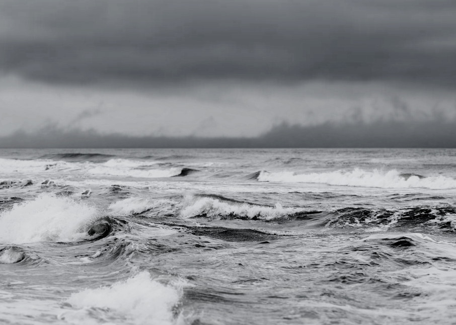 Stormy Sea In Black And White Photography Art | Silver Sun Photography