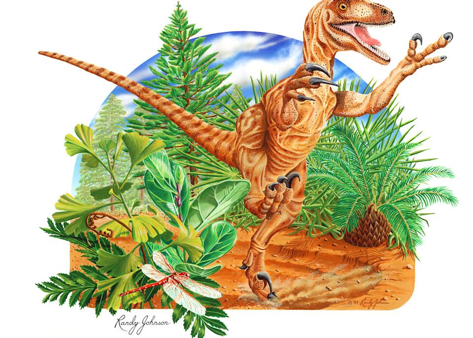 Raptor (Deinonychus) Art | Randy Johnson Art and Photography