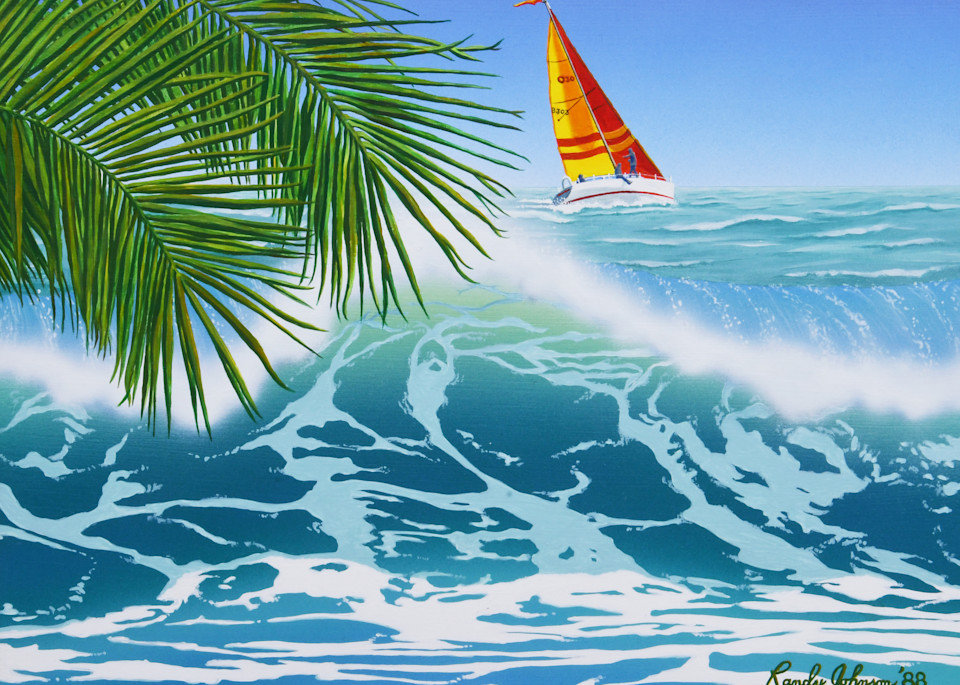 Sailboat On The Coast Art | Randy Johnson Art and Photography