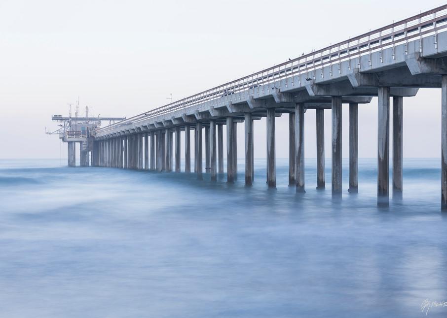 Scripps Pier Overcast Sunrise, La Jolla, California