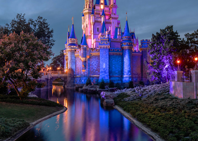 The Evening Glow Of Cinderella's Castle Photography Art | William Drew Photography