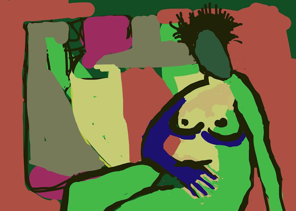 Green Nude Art | stephengerstman