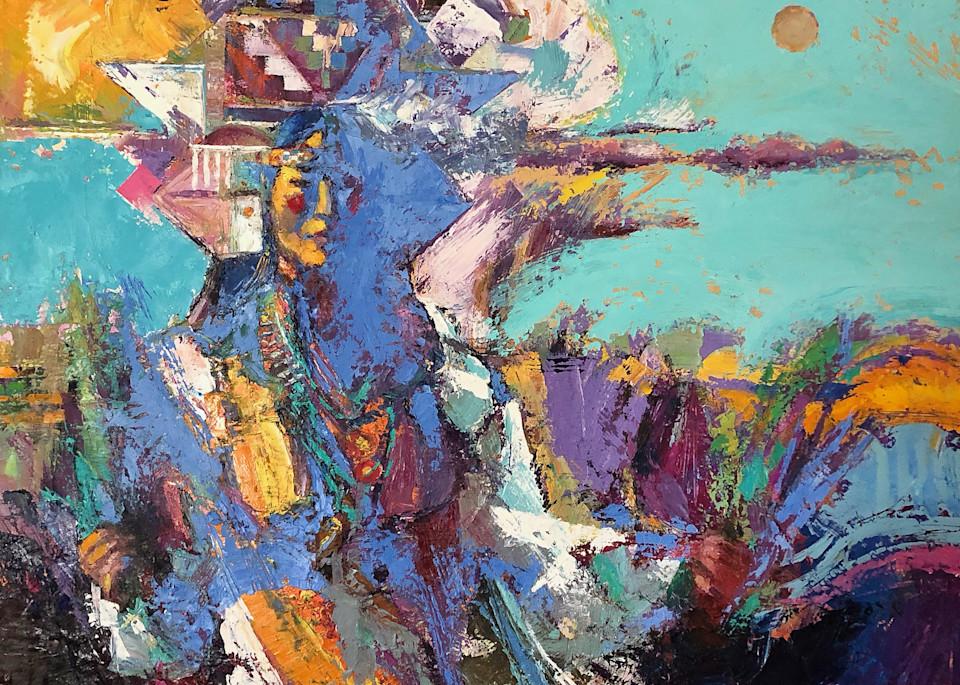 Pueblo Tablet Dancer Art | robertorduno