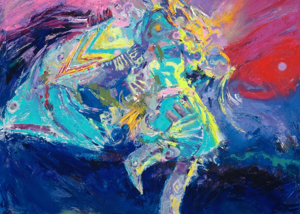 Shawl Dancer In Blue Art | robertorduno