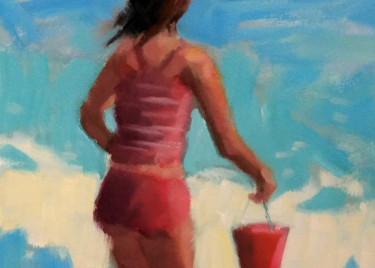 Red Bucket Art | Sharon Guy