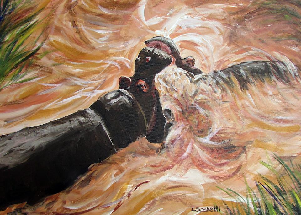 Water Fight Art | Linda Sacketti