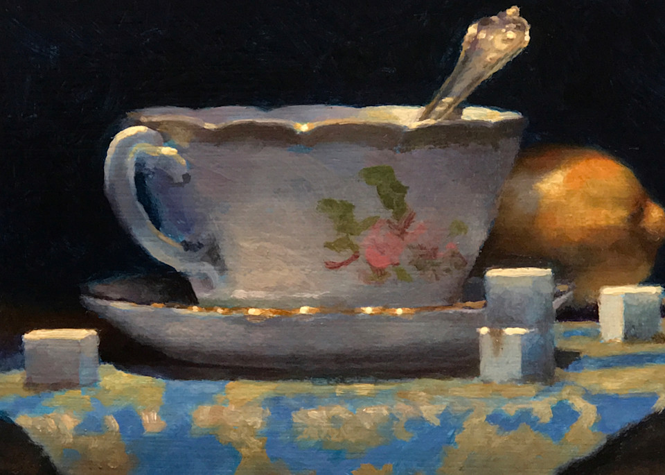 Teacup, Lemon, Sugar Cubes Art | Jeff Hayes Fine Arts