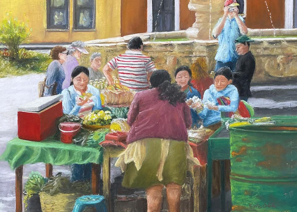 Guatamala Market Art   Kurt A. Weiser Fine Art