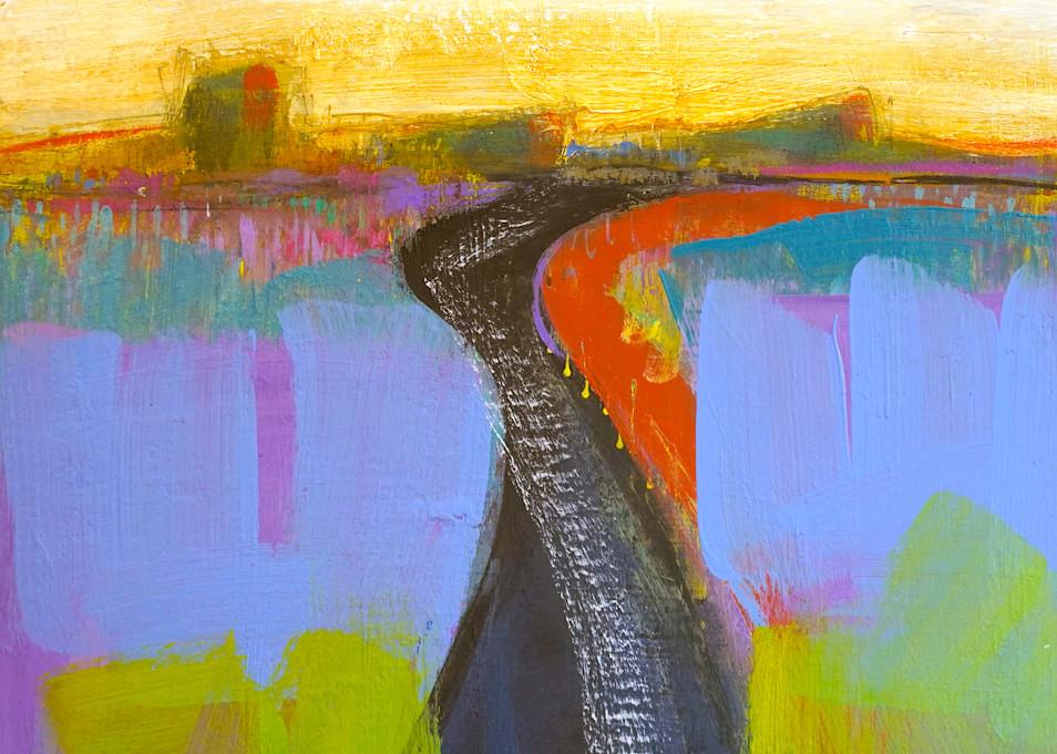 Taos Road Art | L BaLoMbiNi / red paint studio