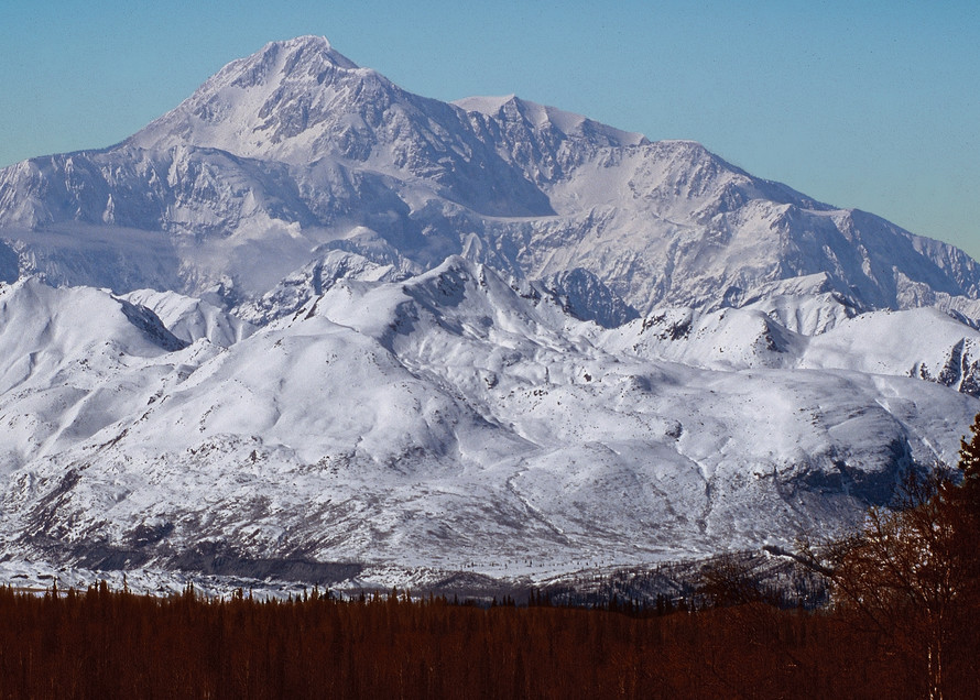 Cloudless Denali Alaska Photography Art   Great Wildlife Photos, LLC