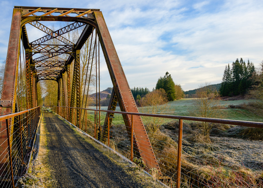 Steel Railroad Bridge, Willapa Hills State Park Trail, Washington, 2021