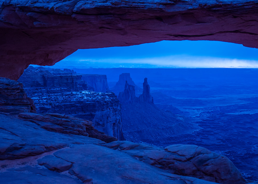 Red Rocks In Blue At Mesa Arch Photography Art | Peter Batty Photography