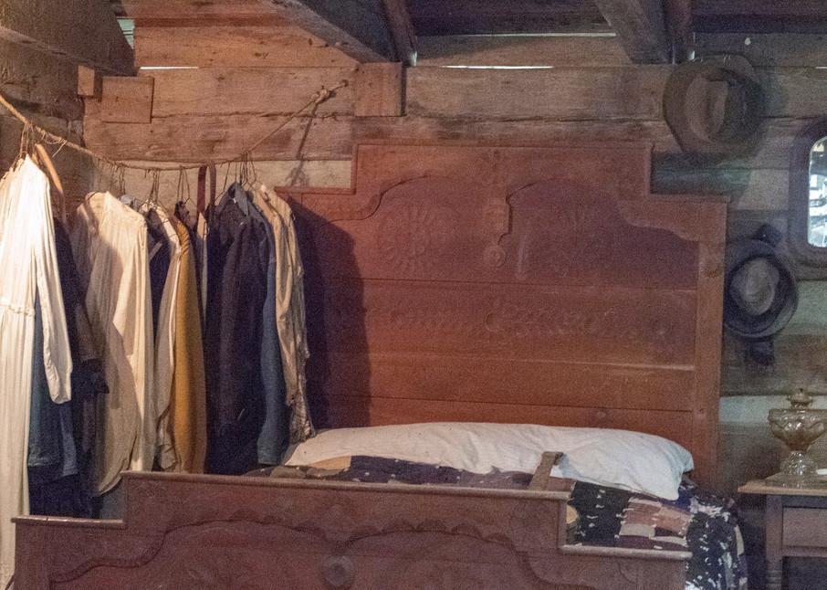 Pioneer Bedroom With No Closet.   Photography Art   Great Wildlife Photos, LLC