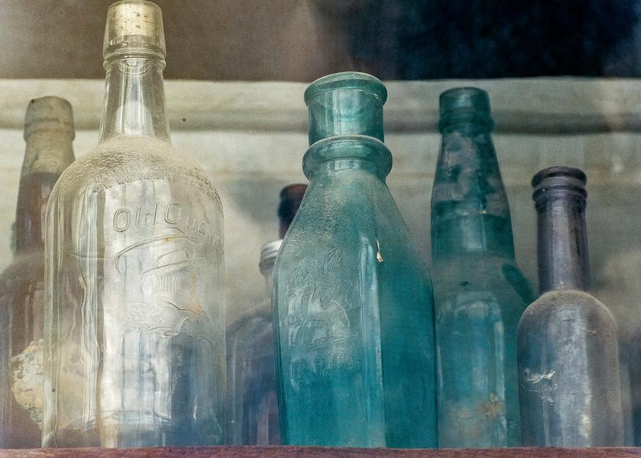 Bodie Bottles In Store Window Photography Art | Great Wildlife Photos, LLC