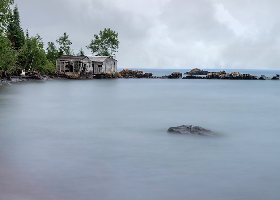 Two Abandoned Fish Houses Photography Art   William Drew Photography