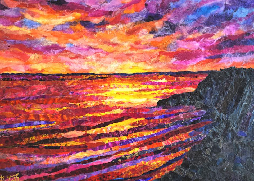 Sunset Cliffs  Art   Poppyfish Studio