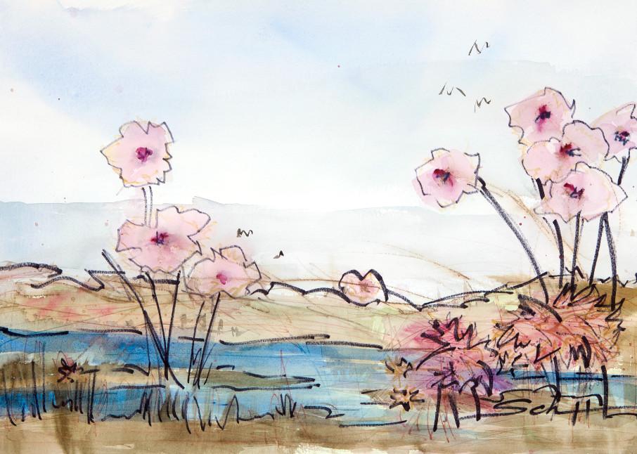 #1 Marsh Flowers Art | Elaine Schaefer Hudson Art