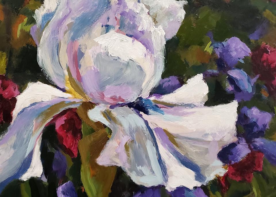 White Iris Print Art | Jenn Hallgren Artist
