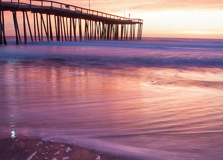 Pier Sunrise Photography Art | Silver Sun Photography