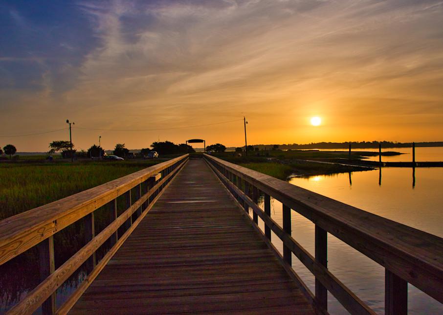 Sands Boardwalk Sunrise Photography Art | Willard R Smith Photography