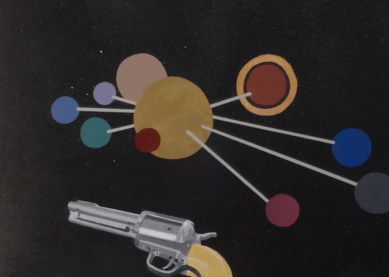 Model Of The Solar System With 44 Magnum Ii Art | David R. Prentice